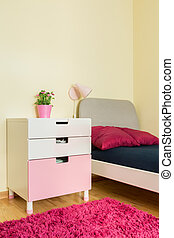 Cozy room for girls - Vertical view of cozy room for girls