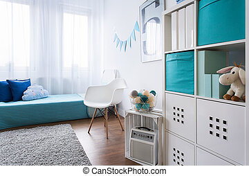 Cozy small space perfect for boy