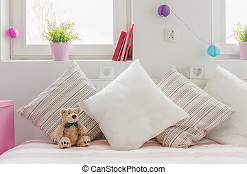 Cozy space for little child - Close-up of cozy space for ...