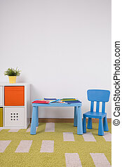 Cozy toddler's playroom - Small cute furniture in cozy...