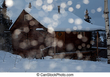 Cozy winter cabin