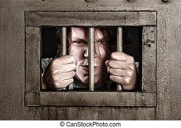 CP of a man behind bars