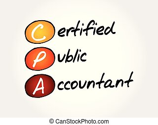 CPA ? Certified Public Accountant acronym
