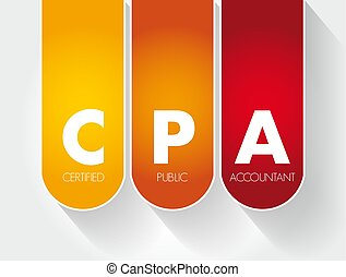 CPA - Certified Public Accountant acronym