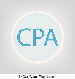 CPA (Certified Public Accountant) concept