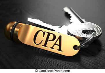 CPA Concept. Keys with Golden Keyring. - CPA - Cost Per...