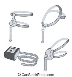 CPAP Machine, 3 styles Face Masks - CPAP machine with...