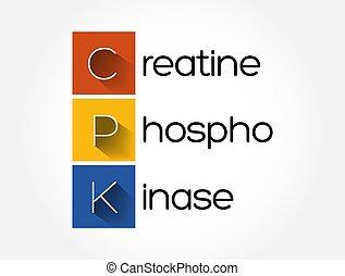 CPK - creatine phosphokinase acronym, concept background