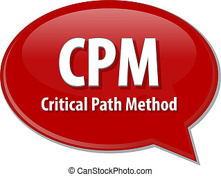 CPM acronym word speech bubble illustration