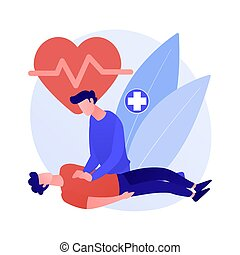 CPR abstract concept vector illustration. Cardiopulmonary ...