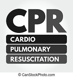 cpr, akronym, -, cardiopulmonale reanimation