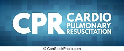 cpr, cardiopulmonaire, acronyme, réanimation, -