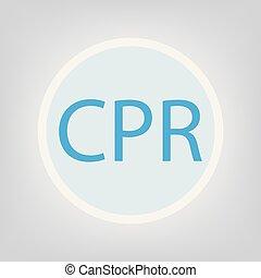 CPR (Cardiopulmonary Resuscitation) concept- vector ...