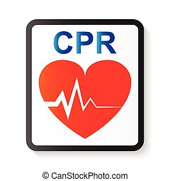 CPR ( cardiopulmonary resuscitation ) , heart and ECG ( ...