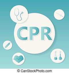 CPR (Cardiopulmonary Resuscitation) medical concept- vector ...