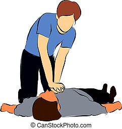 CPR - Cardiopulmonary resuscitation or  CPR
