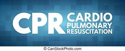 cpr, kardiopulmonal, akronym, wiederbelebung, -