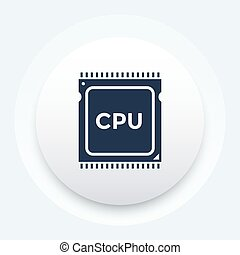 cpu, プロセッサ, pictogram, アイコン