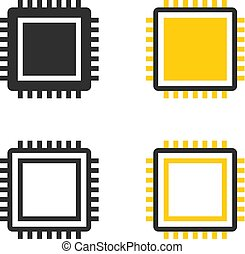 CPU chip icons