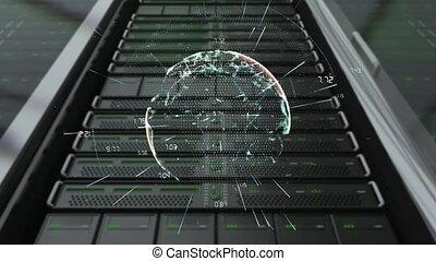 cpu, digitale , globe