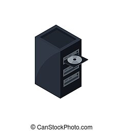 cpu dvd case technology hardware device computer isometric