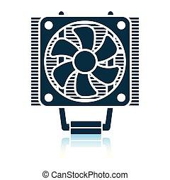 CPU Fan icon. Shadow reflection design. Vector illustration.