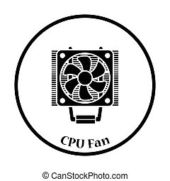 CPU Fan icon Vector illustration