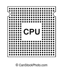 CPU Icon. Outline Simple Design With Editable Stroke. Vector...