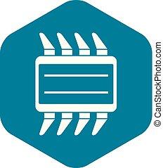 CPU icon simple