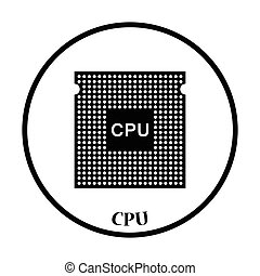 CPU icon Vector illustration