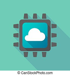 CPU icon with a cloud