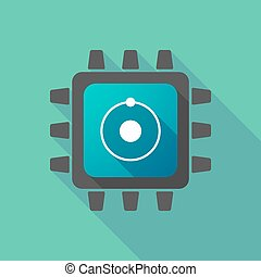 CPU icon with an atom
