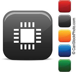 Cpu icon set. Vector illustration.