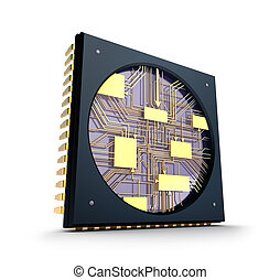 CPU. Inside the chip concept.