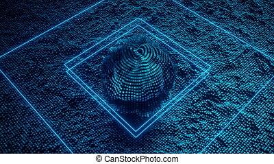 cpu., intelligence, 4k, futuriste, artificiel
