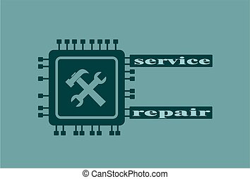 CPU Microprocessor Icon