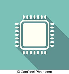 CPU Microprocessor vector illustration