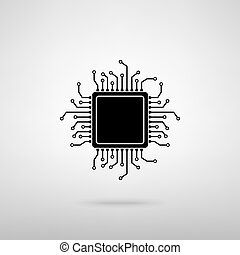 CPU Microprocessor. Vector illustration