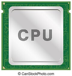 CPU or Central Processing Unit chip vector