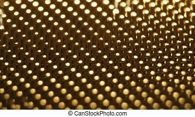 CPU or central processor unit pins, macro dolly. Shot or Red...