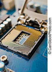 CPU socket - An up close view of where a CPU goes inside a...