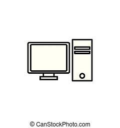 cpu, tecnologia internet, linha, estilo, computador