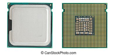 CPU - Two sides of a computer processor