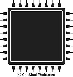 Cpu vector icon