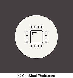 CPU vector icon sign symbol