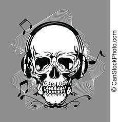 cráneo, auricular