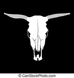 cráneo de la vaca