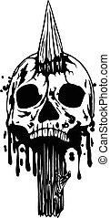 cráneo, estaca