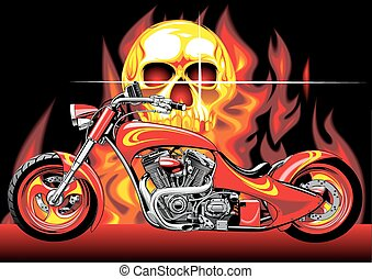 cráneo humano, moto