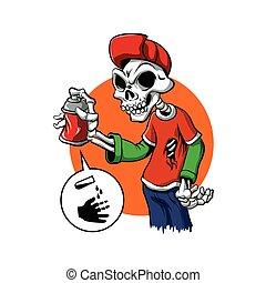 cráneo, pintura